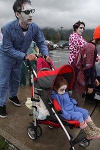Zombie Walk in Gibsons, HUGE, HORRIBLE, aaarrrrgggg..