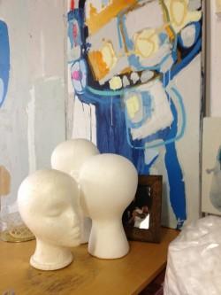 Claire Desjardins, colorful studio visit, colorful sunshine & joy in paint