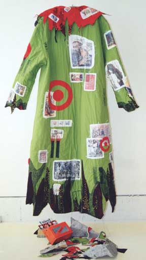 Paula O'Brien, Pavelka Design, art textiles, wearable art quilt coat 9/11, New York Twin Towers, Afghanistan