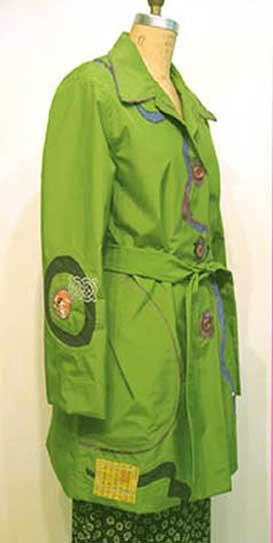 green art raincoat applique, Sew your own waterproof raincoat trenchcoat