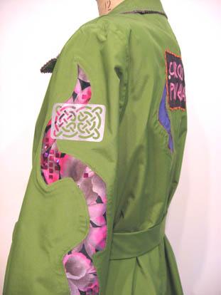 Paula O'Brien, Pavelka Design, art textiles, make your own waterproof raincoat trenchcoat, Christine Jonson pattern Easy Coat 122.