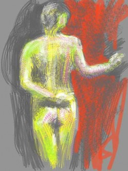 More life drawing with iPad Brushes app