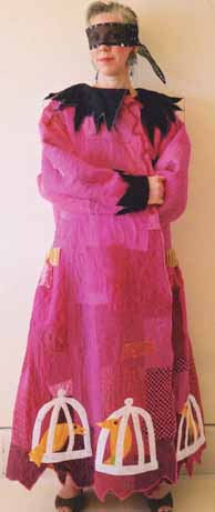 magenta fuschia pink wearable art coat circus theme, Pavelka Paula Seifred OBrien