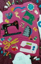 15_sewing_ machines motifs, Pavelka Design Independent sewing patterns, interesting sewing patterns, decorated applique quilt pattern