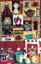 33_teapots, coffeepots, cups, espresso, Pavelka Design Independent sewing patterns, interesting sewing patterns, decorated applique quilt pattern