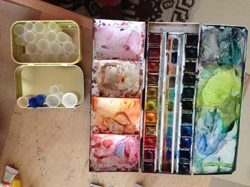 watercolor-travelbox, make your own small watercolor travel box