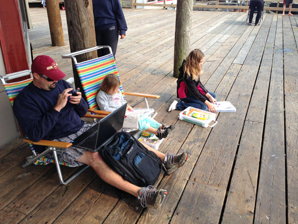 family-crabbing