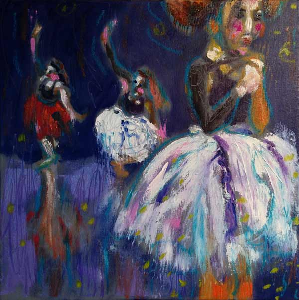 colourful dance painting, colorful dance painting, exciting dance painting, girls dancing