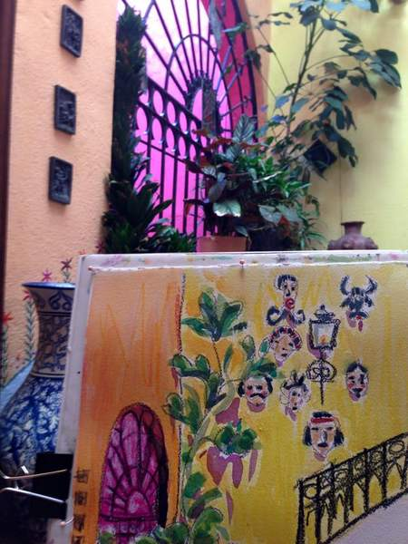 Paula OBrien plein air painting Mexico1