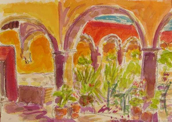 plein air painting, watercolor painting, urban sketching