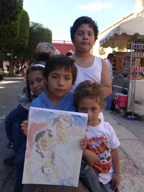 Mexican-children-painting