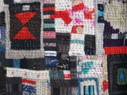 Chunky hand quilting gives great bite to art quilt
