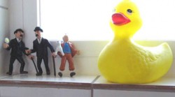 Babar and Tintin live in my bathroom