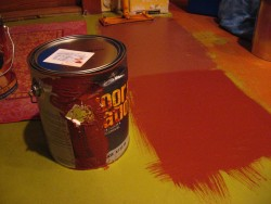 House paint can explosion!