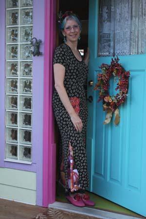 Paula O'Brien, visual artist, colorful inspiring artist home