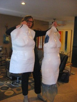 Making a duct tape dressmaker's dummy – the right way