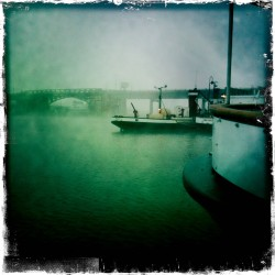 Edmonds to Seattle, in the fog & through the locks
