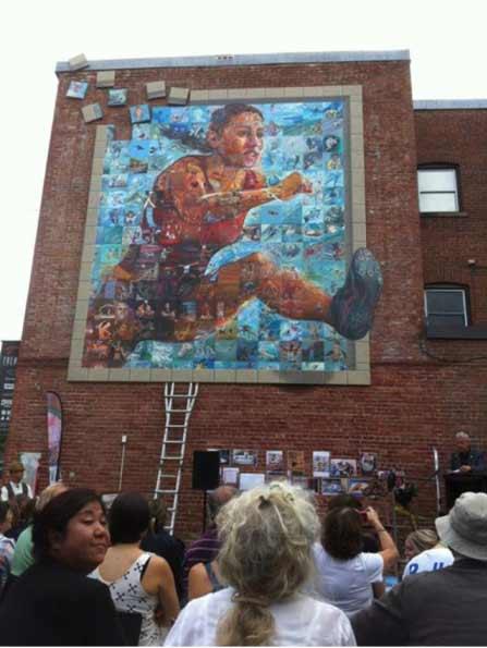 Sports Mural, Sherbrooke, QC, Quebec, Canadian public art