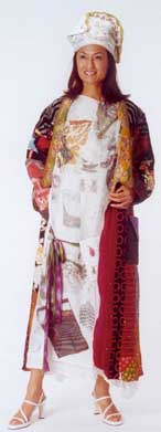Paula O'Brien, Pavelka Design, art textiles, quilted wearable art coat, Fairfield fashion Show