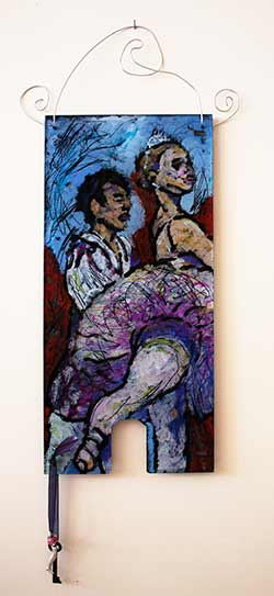 Nutcracker Ballet, painting on glass with oil paints, impressionist painting dance