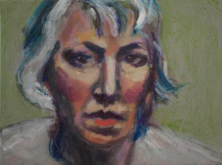 oils self portrait, oil painting self portrait woman, alla prima