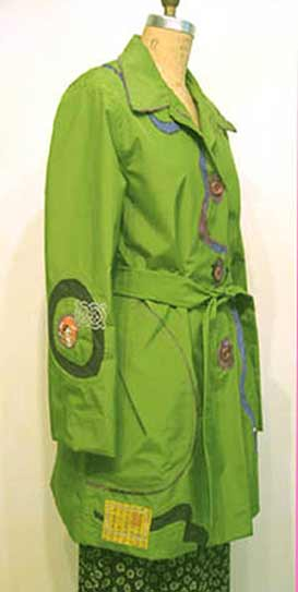 green art raincoat applique, Sew your own waterproof raincoat trenchcoat