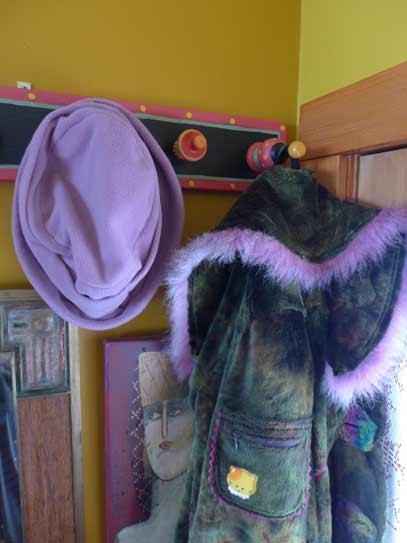 green-fake-fur-art-coat