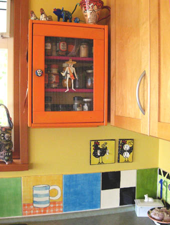 funky painted kitchen cabinets colorful artist home whimsical house details 15676