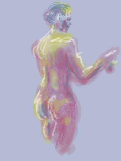 iPad Brushes life drawing, Life drawing with Brushes app on iPad, opaque and transparent effects