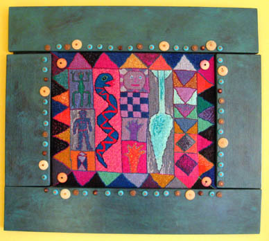 Paula O'Brien, Pavelka Design, art textiles, innovative imaginative original design art needlepoint