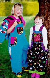 110_kids_overalls, Pavelka Design Independent sewing patterns, interesting sewing patterns, decorated childrens overalls pants pattern