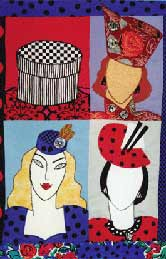 13_hats, Pavelka Design Independent sewing patterns, interesting sewing patterns, decorated applique quilt pattern