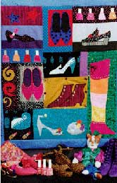 Party Shoes, Pavelka Design Independent sewing patterns, interesting sewing patterns, decorated applique quilt pattern