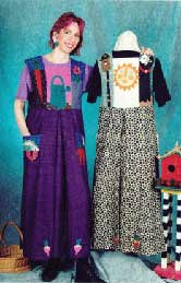 Market Garden Jumper, Pavelka Design Independent sewing patterns, interesting sewing patterns, garden applique dress pattern up to plus size