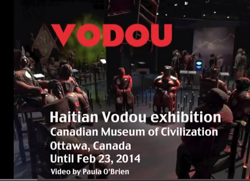 youtube video voodoo exhibition in Ottawa, voodoo sculpture