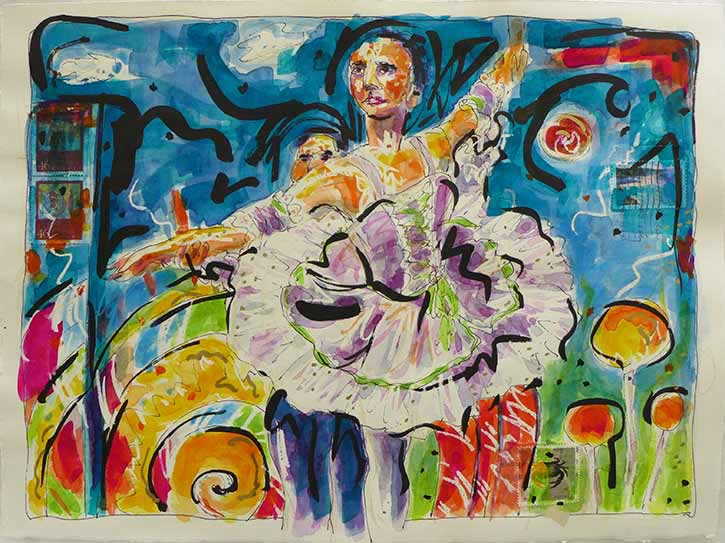 Nutcracker Ballet, watercolors, watercolor paintings Nutcracker, ballet painting