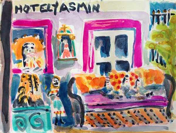 Hotel-Yasmin-watercolor-painting2