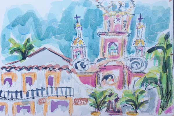 Puerto-Vallarta-cathedral-painting