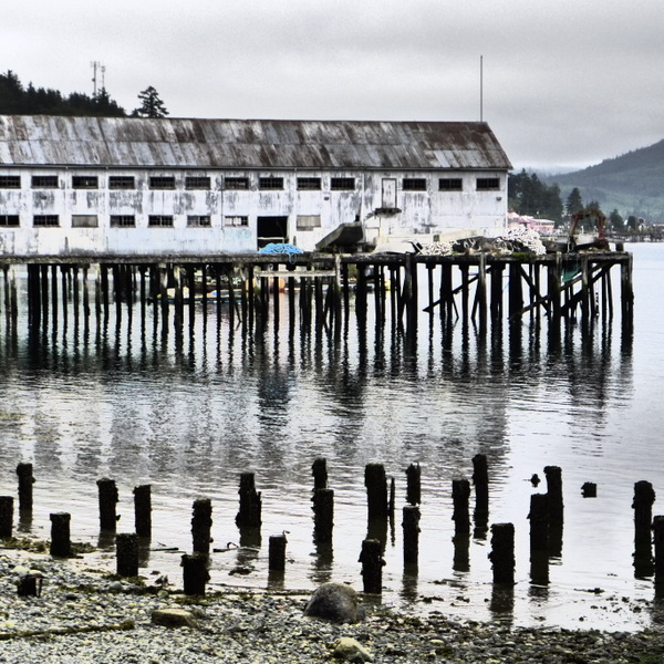 Alert Bay, BC, fishing harbour, First Nations community