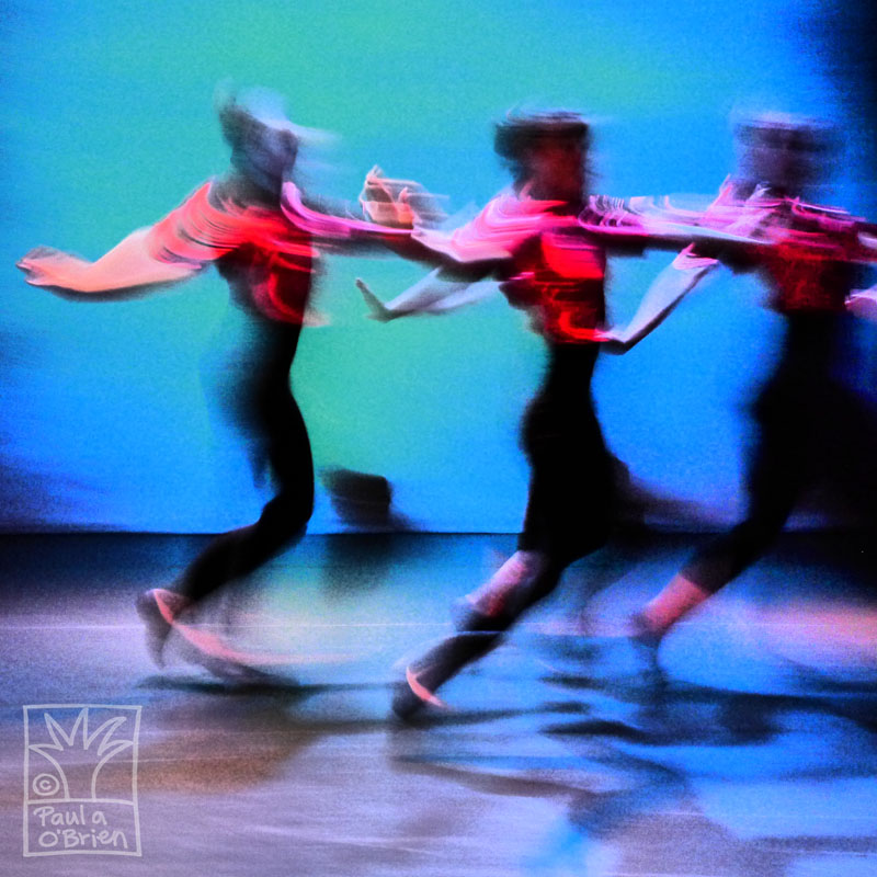 Contemporary dance photography, dramatic color and movement