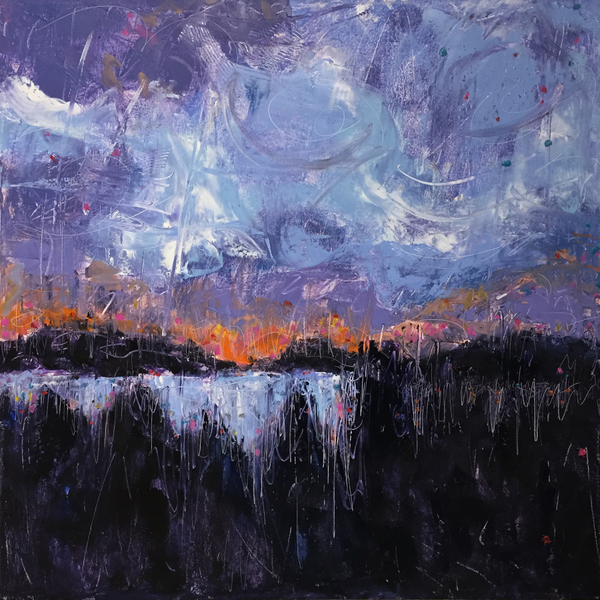 sunset, sunrise, end of life, oil painting, landscape, Paula O'Brien