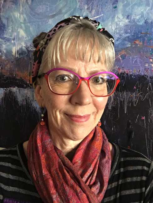Paula O'Brien, Gibsons, BC Vancouver, visual artist colorful painter