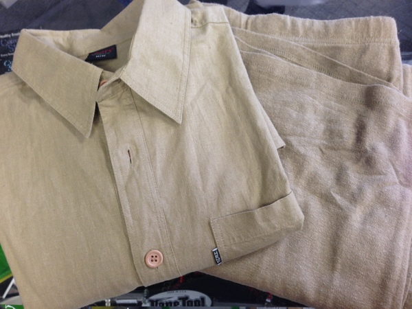 hemp burial shirt, hemp burial pants, natural burial