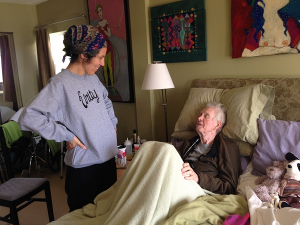 dying at home, visits from friends and family, palliative visit