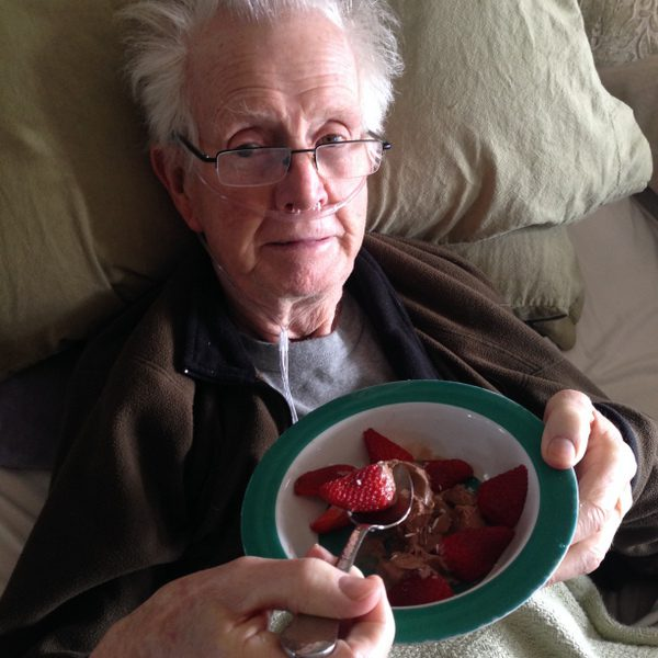 pallitaive care, dying at home, eating strawberries and chocolate ice cream
