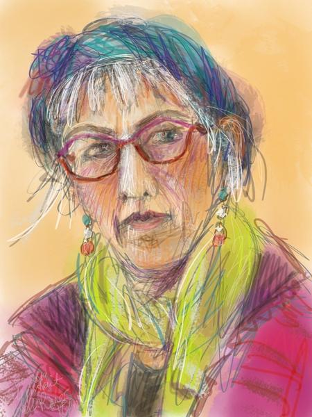 self portrait painting, self portrait drawing, digital painting
